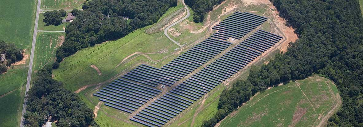 large scale solar project