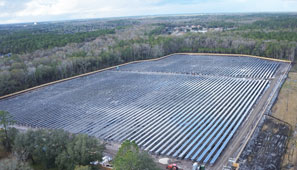 large scale solar site